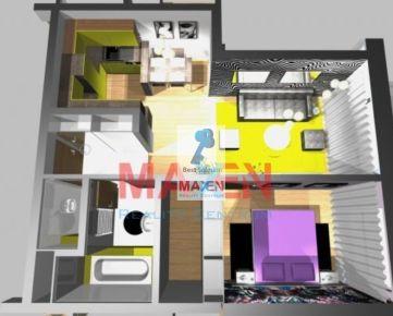 Predaj: 1 izbový byt VIEDENSKA + LO, 39m2, Košice -sídl. ŤAHANOVCE,