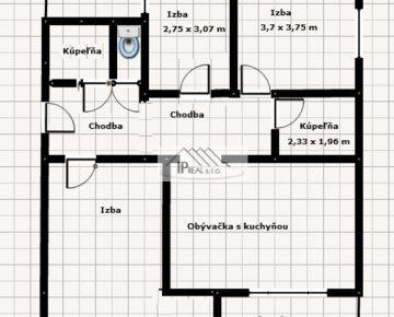 Predaj 4i tehlového  bytu na Pluhovej ulici
