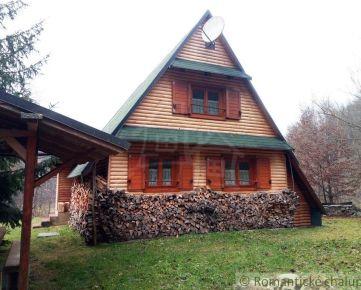 Pekná Zrubová chata pod horou Trenčín na predaj
