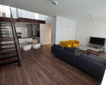 Ponúkame na prenájom zariadený 3i mezonetový byt na Zadunajskej ceste v Petržalke, oproti Auparku.