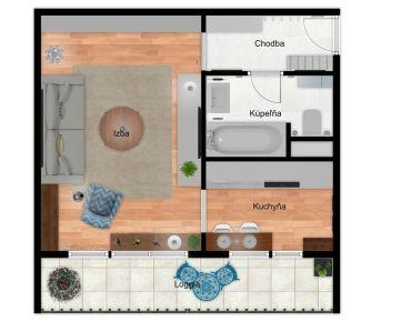 Predaj 1 izbového bytu Rača Novohorská