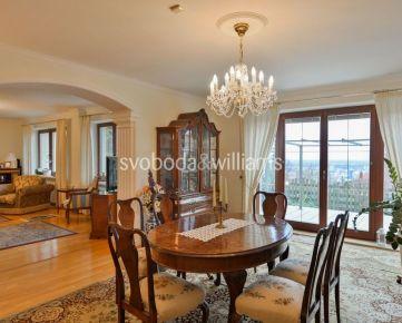 SVOBODA & WILLIAMS I Priestranný rodinný dom so 7 izbami s terasou a nádherným výhľadom na Bratislavu, Koliba