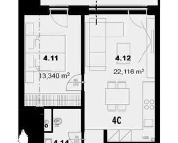 Na predaj 2 izbový byt v centre mesta Prešov - NOVOSTAVBA.