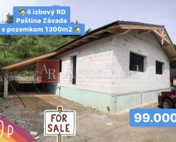 Predaj:4 izbový RD v štádiu hrubej stavby,  Paština Závada pri Žiline