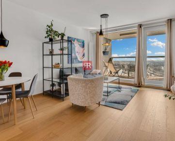 HERRYS - Na predaj krásny 2 izbový byt v novostavbe Panorama city s výhľadom, parking - 3D obhliadka