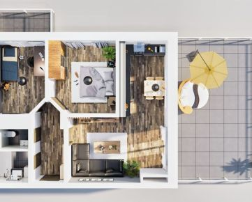 NA PREDAJ | 3 izbový byt 71m2 + veľká terasa, 5np. - Rezidencia Kožušnícka / dom A30