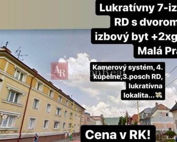 LUKRATÍVNY 7-izbový RD + 2 izbový byt, 62m2 + 2 garáže, Malá Praha, ZA