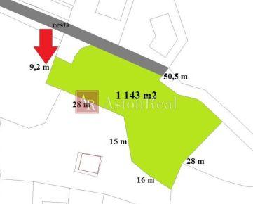 Stavebný pozemok (1143m2) s projektom DOMU, 7minút od centra