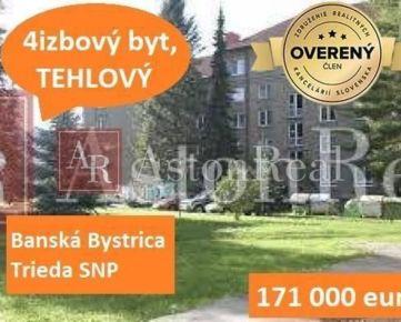 PRIESTRANNÝ TEHLOVÝ 4izbový byt , 99m2, BANSKÁ BYSTRICA - Trieda SNP