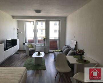 Nobelova, NOVÝ veľký 1-izbový byt, kompletne zariadený, balkón, 39 m2, parkovanie.