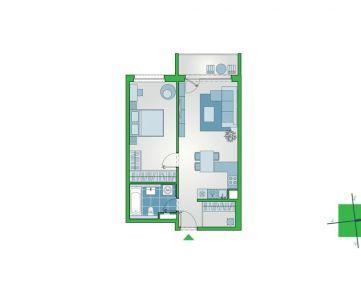 Nový 2-izbový byt na 10. poschodí, so šatníkom a lodžiou. NUPPU, Ružinov (D1110)