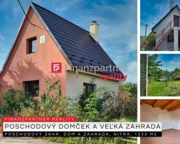 Poschodový záhradný dom a záhrada, Bita, Nitra, 1333 m2