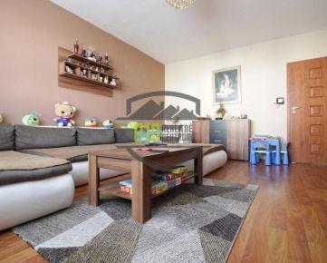 Pekný 3 izbový byt na Klokočine - 78 m2, lodžia, 3 nepriechodné izby