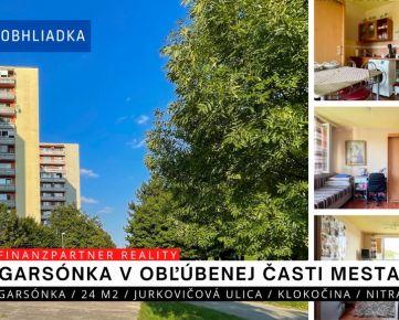REZERVOVANÁ Garsónka 24 m2, Jurkovičová, Klokočina, Nitra + 3D