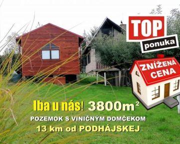ZNÍŽENÁ CENA!!! Pozemok s chatkou s výmerou 3800 m2, na predaj! Kúsok od Podhájskej - Dolný Pial, 3800m2