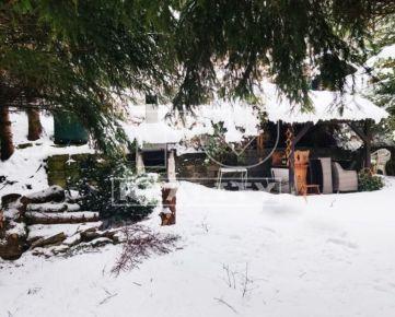 Záhradná chatka v tichom prostredí blízko Žiliny, výmera 302m². CENA: 41 500,00 EUR