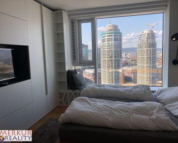 Prenajom 4 izbovy byt Panorama City, s  prekrasnym vyhladom na Bratislavu, 24/33, parkovanie, ulica Landererova