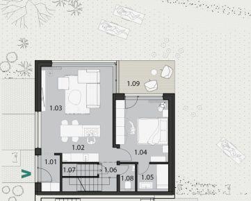 Záhradné sady: 4 izbový byt s 300 m2 záhradou v novej rezidenčnej štvrti v Prešove