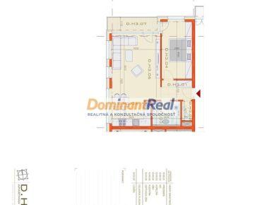 OMNIA – D.H3 - 2. izbový APARTMÁN o celkovej výmere 67,01 m2
