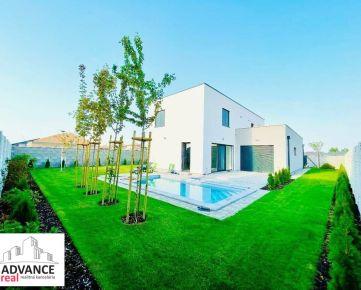 5i luxusný skolaudovaný dom s bazénom v Senci dokončený, zariadený