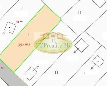 Predaj záhrady s pozemkom o výmere 392 m2,  nad Tulskou na Fončorde v Banskej Bystrici – cena – 19 000€