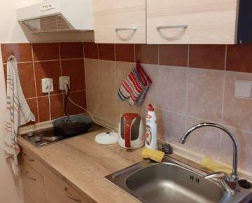 385,- Eur pre 2 osoby vrátane spotreby E, služieb a internetu! Zariadený novo zrekonštruovaný menší 1-izb. byt, 28 m², kuchyňa samostatná, na Trnavskej ceste v Ružinove