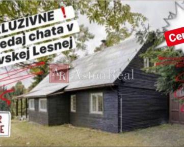 EXKLUZÍVNE: na predaj CHATA v Oravskej Lesnej ! pozemok 2. 676 m2