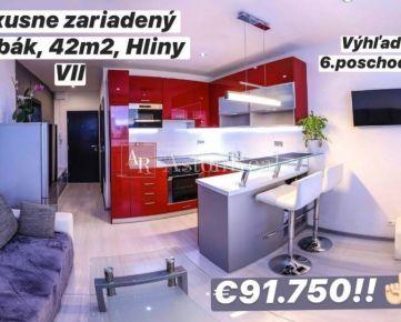 EXKLUZÍVNY: Luxusný 1-izbový byt, 42m2, Hliny VII - Žilina