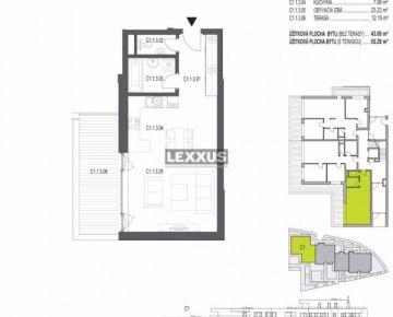 LEXXUS-PREDAJ, 1-izbový byt v projekte Belaria Koliba II. etapa