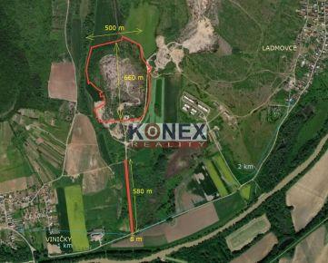 KONEX REALITY – Ložisko stavebného kameňa – pozemok 26 há, Ladmovce