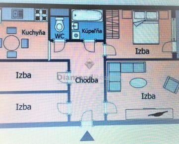 Na predaj jedinečný 4-izbový byt Košice Terasa
