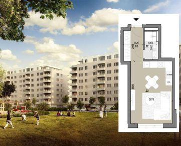 1 izbový byt (A207) – ZELENÉ VLČINCE – NOVOSTAVBA
