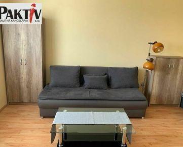 =PAKTIV= PRENÁJOM zariadeného 1-izbového bytu na sídlisku Družba v Trnave.