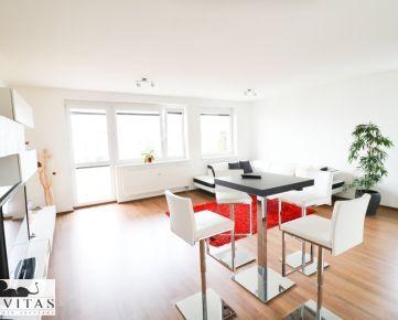 Na prenájom kompletne zariadený 2-izbový byt s balkónom a garážou, Kramáre