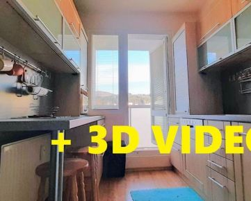 Prenájom - VIDEO + 3D - Byt 3+1, 64m2 s loggiou, prerobený, zariadený - Banská Bystrica