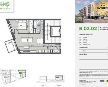 Byty DUO - SKOLAUDOVANÉ Na PREDAJ 2 - izbový byt