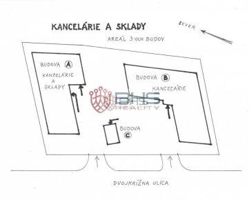 Prenájom – KANCELÁRIE a SKLADY (11 m2 až 260 m2), BA - Pod. Biskupice