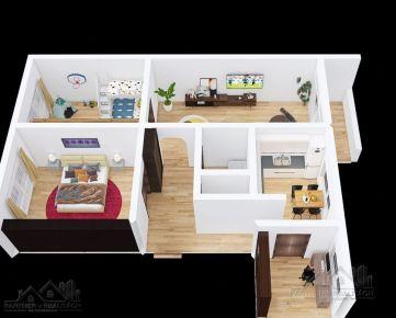 POZRITE SI 3D- Prehliadku  4 izbového bytu  na predaj,  Bratislava II. Podunajské Biskupice, Estónska ul.