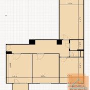 3-izb. byt 80m2, kompletná rekonštrukcia