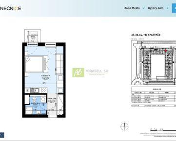 NOVOSTAVBA: 1 izbový apartmán v projekte SLNEČNICE - MESTO, 30 m2