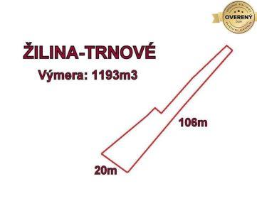 Trnove pozemok 1193 m2, okr. Žilina