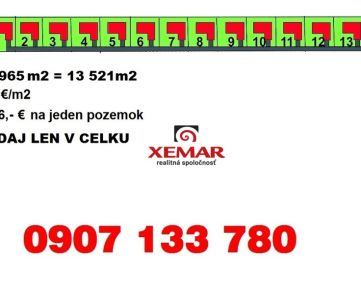 Predaj- stavebný pozemok pre developera- 13521 m2- Detva- Stavanisko