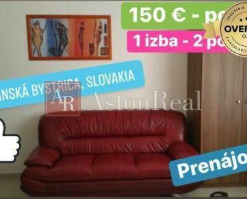 Na prenájom: pre 2 osoby, 150 € osoba, pekná izba v centre B. Bystrice