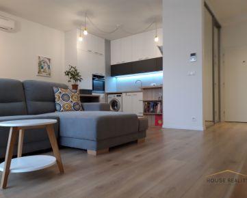Prenájom NOVOSTAVBA 2 izbový byt s veľkou lodžiou a klimatizáciou, Račianska ulica, Bratislava III. Nové Mesto