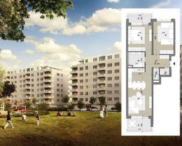 3 izbový byt (A209) – ZELENÉ VLČINCE – NOVOSTAVBA