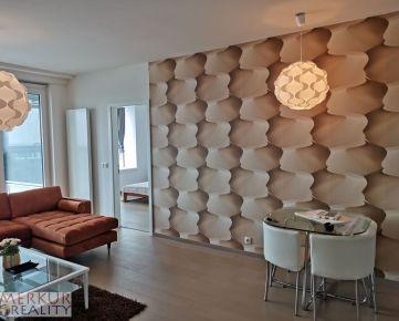 Prenájom zariadený  3 izbový byt Novostavba Staré mesto Panorama city, balkón, parkovanie, pivnica,klimatizácia