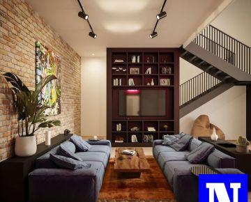 Loftový byt 100m2,  garážové státie a kobka, Novostavba Dve Sýpky Jarovce
