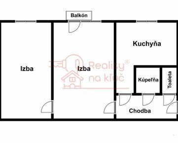 Na predaj 2-izbový byt neďaleko železničnej stanice v Nových Zámkoch