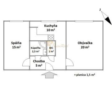 2-izb., Námestie hraničiarov, Petržalka, 7.p./12