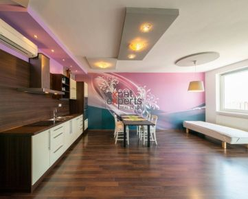 Priestranný, zariadený 1 - izbový byt s balkónom, Petržalka